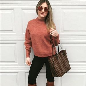 Leith sweater size XS, dark coral color